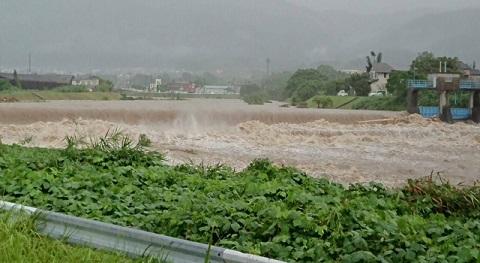 大雨による水害発生